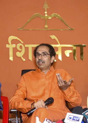 Thackeray, sources said, also stressed that he intended to get a larger share of power in the alliance government compared to the 2014 arrangement. Photo/PTI