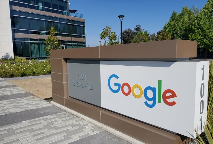 A sign is pictured outs a Google office near the company's headquarters in Mountain View, California. (Reuters Photo)