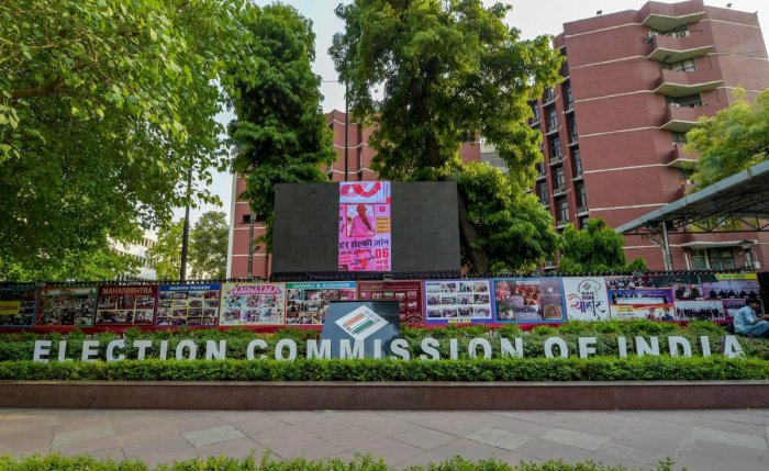 Election Commission of India office, in New Delhi. (PTI Photo)