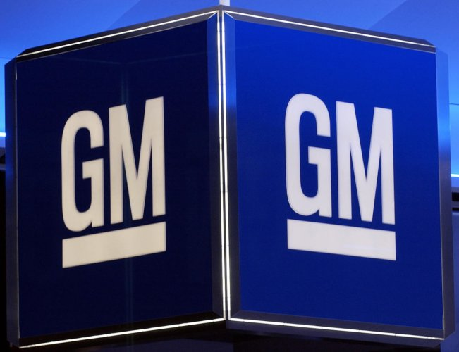 The corporate logo for the General Motors Corporation (Photo AFP)