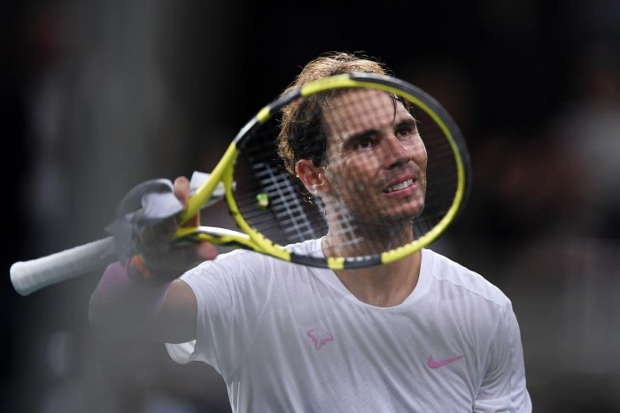 Spain's Rafael Nadal celebrates. (AFP Photo)