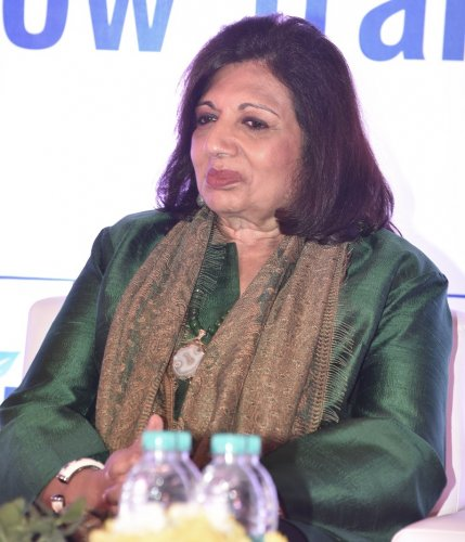 Kiran Mazumdar Shaw, Chairman and MD Biocon Limited in Bengaluru on Wednesday. (DH Photo)