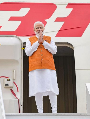 The prime minister will attend 16th ASEAN-India Summit, the 14th East Asia Summit and the third summit meeting of Regional Comprehensive Economic Partnership (RCEP) which is negotiating the trade deal. Photo/PTI