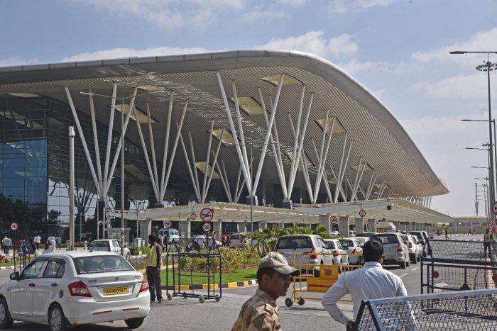 Kempegowda International Airport (KIA) in Devanahalli, Bengaluru. (DH Photo)