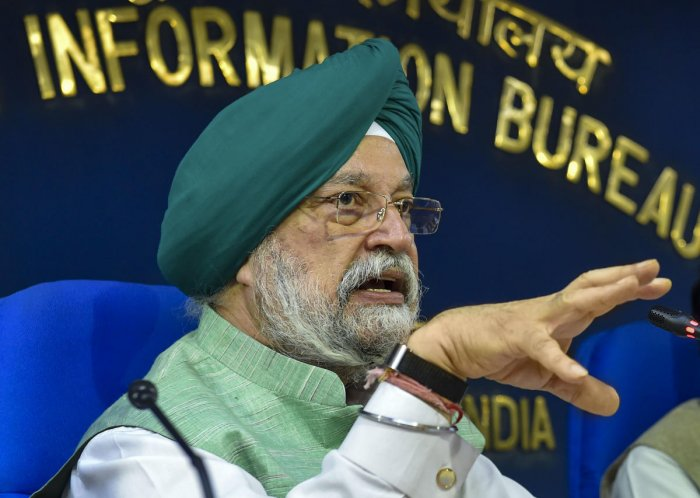 Minister of Housing and Urban Affairs Hardeep Singh Puri (PTI Photo)