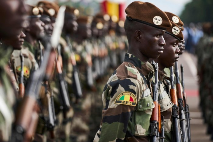 """Fifty-three soldiers were killed on November 1, 2019, in a """"terrorist attack"""" on a Mali military post in the northeast of the country. (AFP Photo)"""