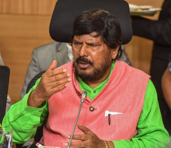 Ramdas Athawale, Union Minister of State for Social Justice and Empowerment. (DH Photo)