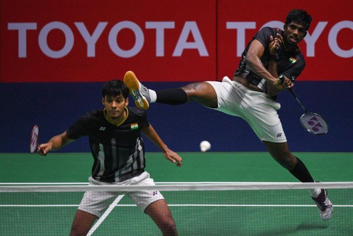 Satwiksairaj Rankireddy (right) and Chirag Shetty have been on a roll in recent times that has seen them get among top-10 in the world. AFP