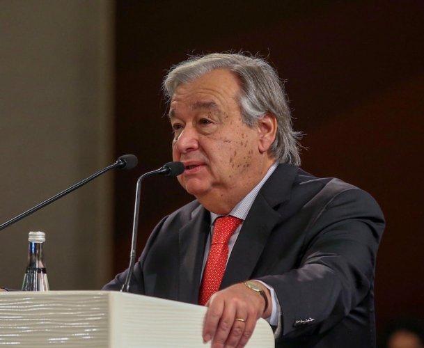 U.N. Secretary General Antonio Guterres (Photo by Reuters)