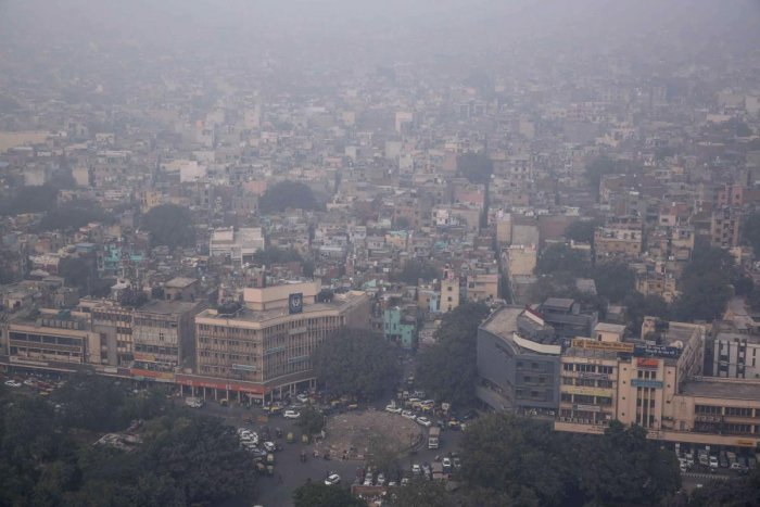 New Delhi aerial shot (Photo by AFP)