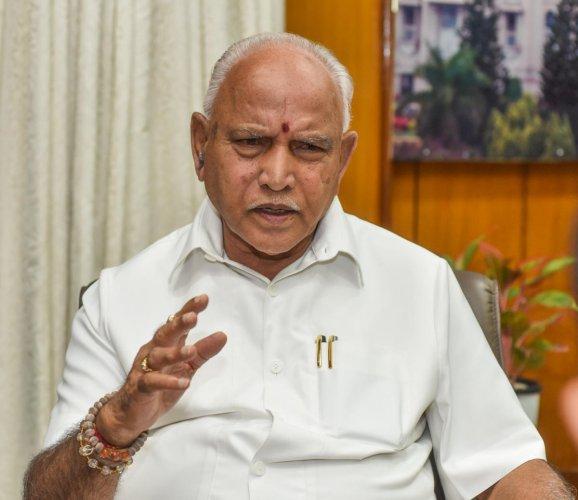 B S Yediyurappa, Chief Minister of Karnataka. DH photo