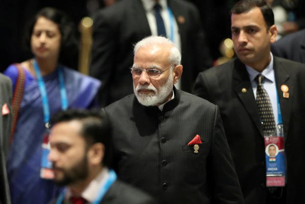 Prime Minister Narendra Modi arrives for a special lunch on sustainable development on the sidelines of the ASEAN summit in Bangkok, Thailand. (Reuters photo)