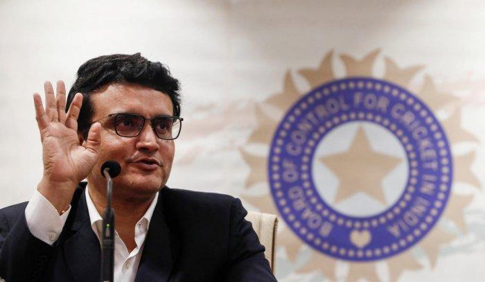 BCCI, president Sourav Ganguly (Reuters Photo)
