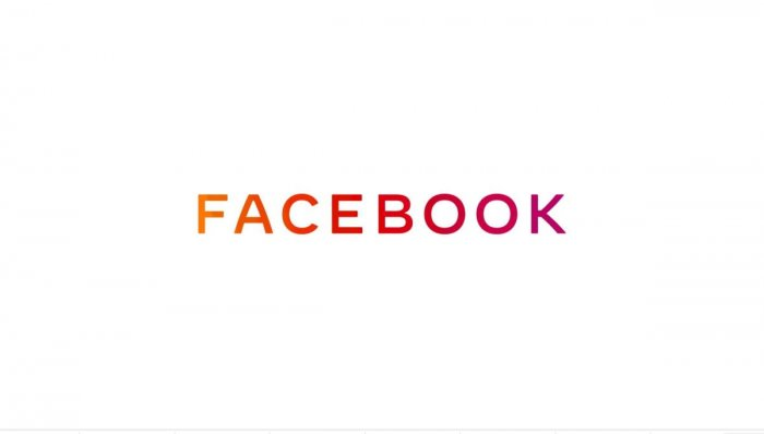 This handout image obtained November 4, 2019 courtesy of Facebook, shows the new company logo for Facebook. AFP Photo