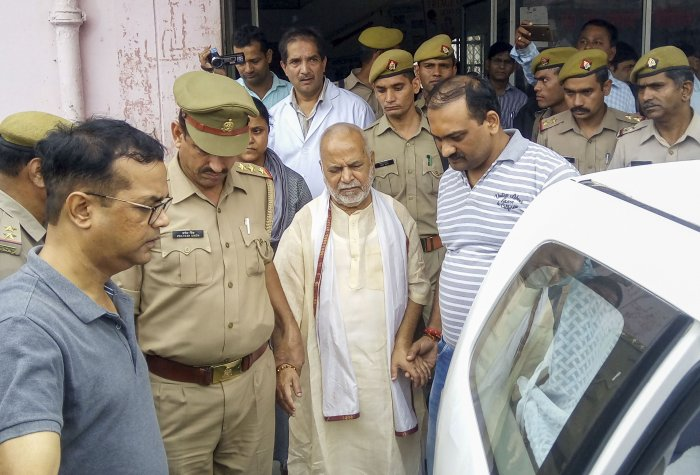 Former Union minister Swami Chinmayanand. (PTI Photo)