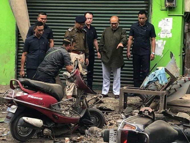 Five police personnel including an officer were injured in a suspected improvised explosive device (IED) blast in Manipur capital Imphal. (DH Photo)