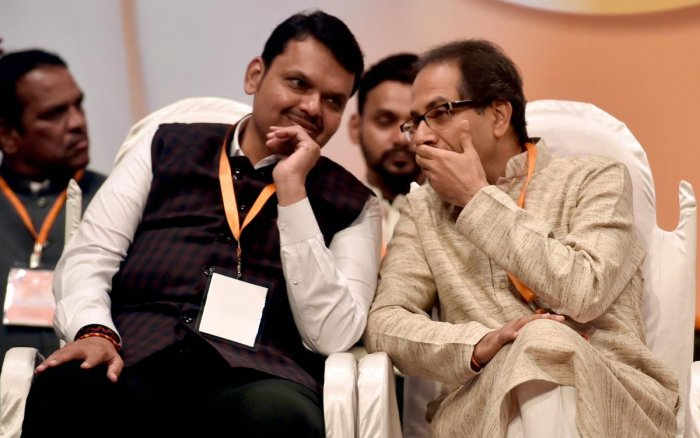 The BJP and its ally the Shiv Sena are currently tussling over the Chief Minister's post, with the Sena demanding a split tenure for the top post