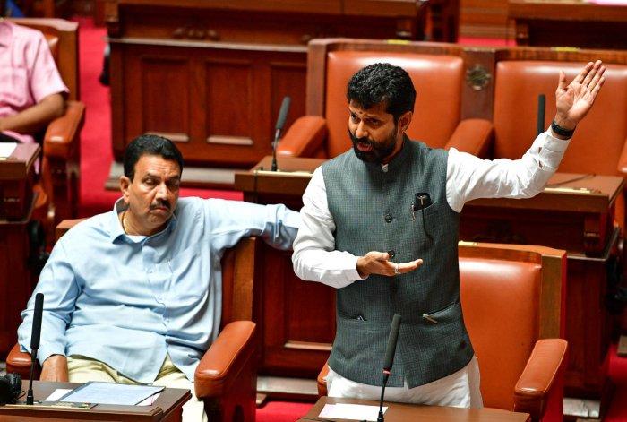 Minister of Kannada and Culture of Karnataka C T Ravi (DH Photo)