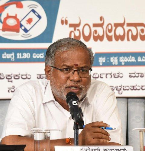 Primary and secondary education minister Suresh Kumar (Photo Srikanta Sharma R)