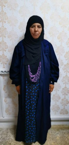 Rasmiya Awad, believed to be the sister of slain Islamic State leader Abu Bakr al-Baghdadi, who was captured on Monday in the northern Syrian town of Azaz by Turkish security officials, is seen in an unknown location in an undated picture provided by Turkish security officials. Reuters photo