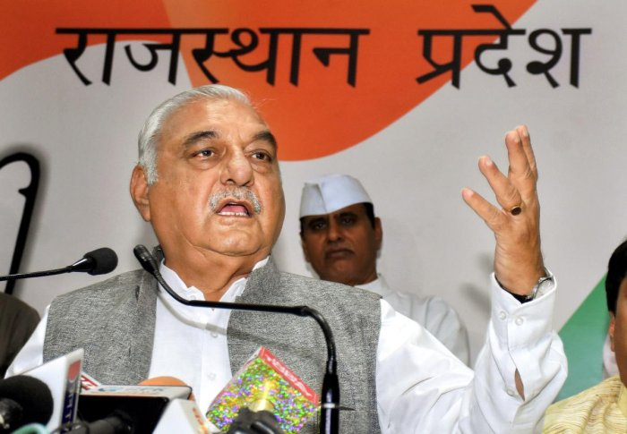 eader of the Opposition Bhupinder Singh Hooda raised problems faced by farmers during the procurement process. (PTI Photo)