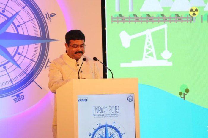 Speaking at KPMG's Enrich 2019 conferenc, he said India will chart its own course of energy transition in a responsible manner even as it is said to be a key driver of global energy demand in the coming decades. (PIB/Twitter)