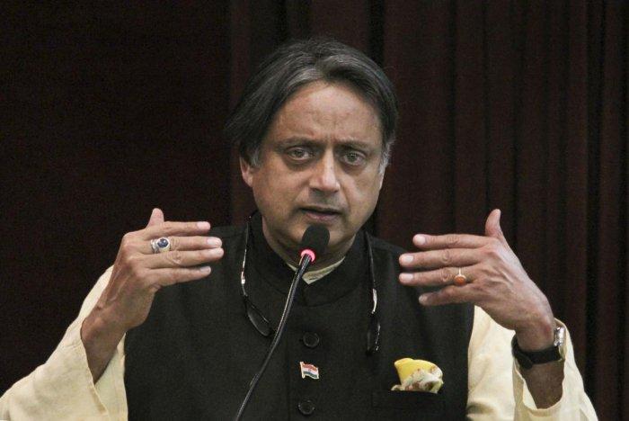 Congress MP Shashi Tharoor. PTI Photo