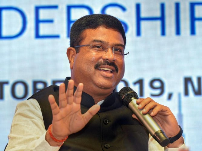 Union Minister for Petroleum & Natural Gas and Steel, Dharmendra Pradhan (PTI Photo)