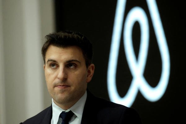Chief executive and co-founder of Airbnb Brian Chesky. (Reuters photo)
