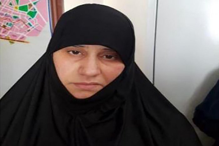 This handout undated picture released by the press service of the Turkish Government shows Asma Fawzi Muhammad Al-Qubaysi, believed to be the first wife of slain Islamic State leader Abu Bakr al-Baghdadi. AFP/Turkish government