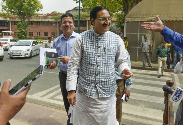 Human Resource Development (HRD) minister Ramesh Pokhriyal Nishank (PTI Photo)