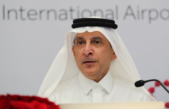 Chief Executive Officer of Qatar Airways Akbar al-Baker. (AFP File Photo)