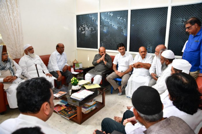 Ayodhya Verdict - Muslim community leaders met Home Minister Basavaraj Bommayi for appropriate protection and Law and order (DH Photo)