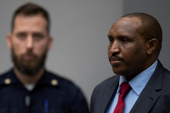 Congolese militia commander Bosco Ntaganda rises as judges enter the courtroom of the International Criminal Court (ICC) in The Hague, Netherlands November 7, 2019. (Peter Dejong/Pool via REUTERS)