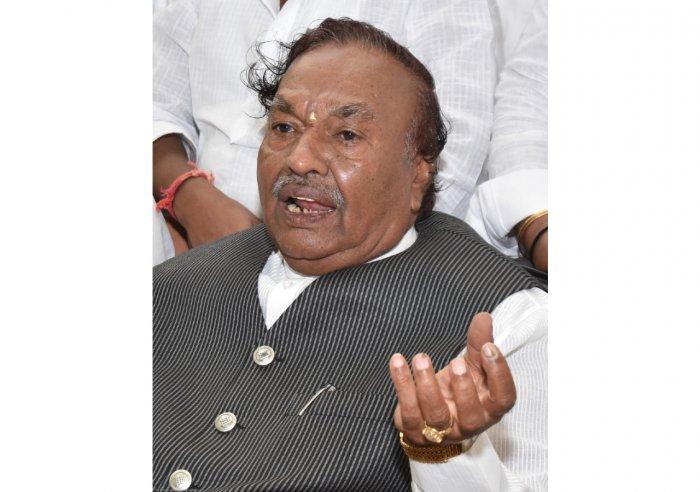 RDPR Minister K S Eshwarappa