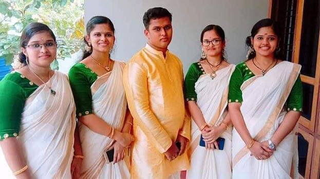Quintuplets Uthraja, Uthara, Uthrajan (brother), Uthama and Uthra. (From left to right) (DH photo)