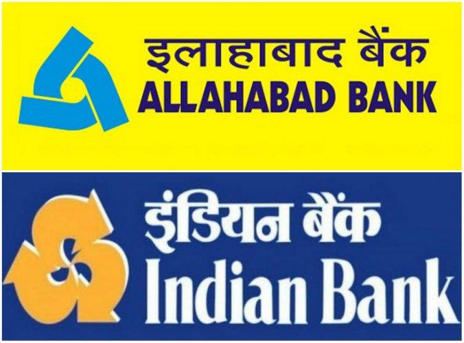 Indian Bank and Allahabad Bank merger. (Screengrab from respective banks)