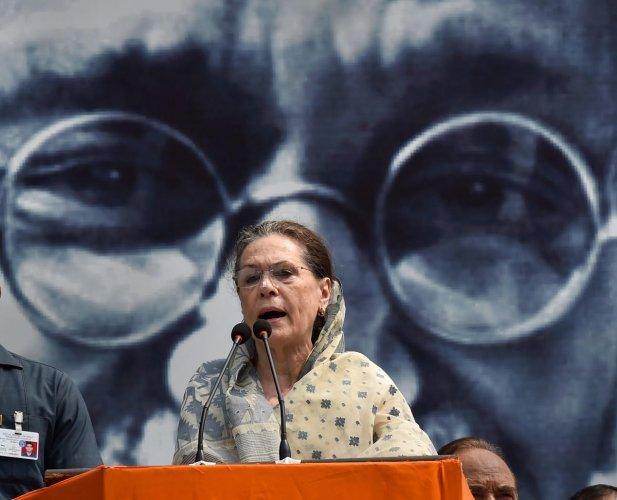 Congress President Sonia Gandhi. (PTI Photo/Manvender Vashist)