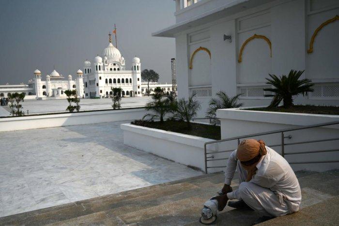 Shrine of Baba Guru Nanak Dev at the Gurdwara Darbar Sahib (AFP Photo)