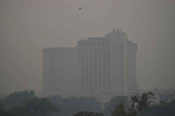 Buildings are seen covered in thick smog in New Delhi. (AFP Photo)