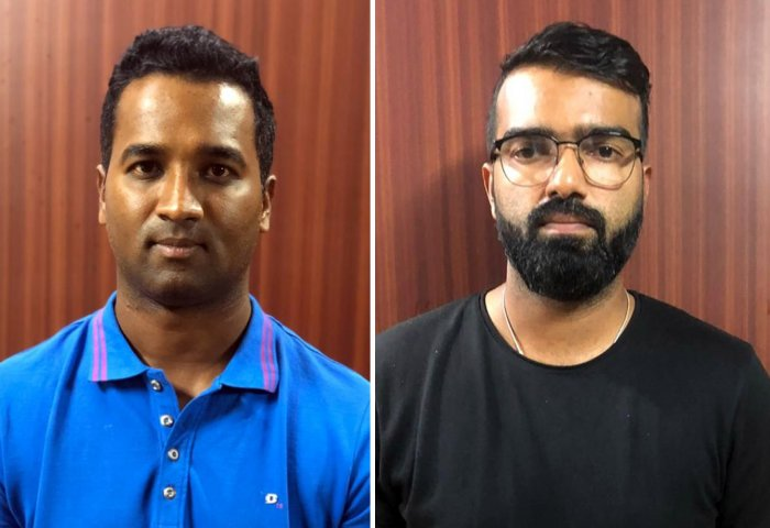 Bellary Tuskers team captain C M Gautum and player Abrar Kazi were arrested after the detailed interrogation and findings that both were involved in the spot fixing during KPL 2019 final match between Hubli Vs Bellary. They were paid Rs 20 lakh for slow batting and for other things. Also duo fixed another match against Bengaluru team in the KPL. (DH Photo)