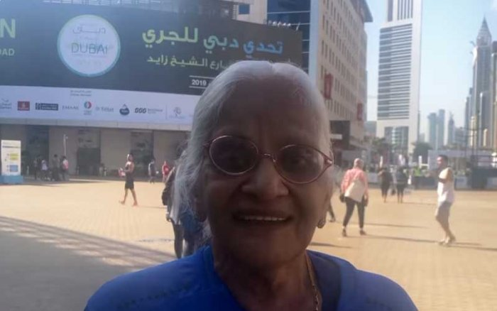 Kusum Bhargava, 86, and Eiswari Amma, 78, participated in the Dubai run on Friday, Khaleej Times reported. (Credit: Khaleej Times video)