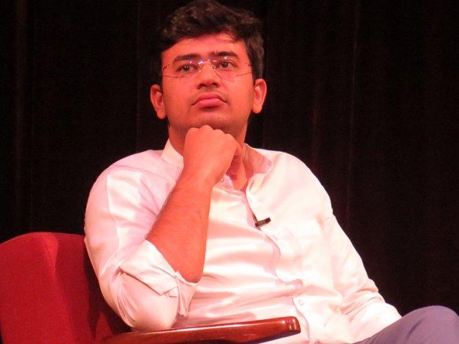 Bangalore South MP Tejasvi Surya. (DH Photo)