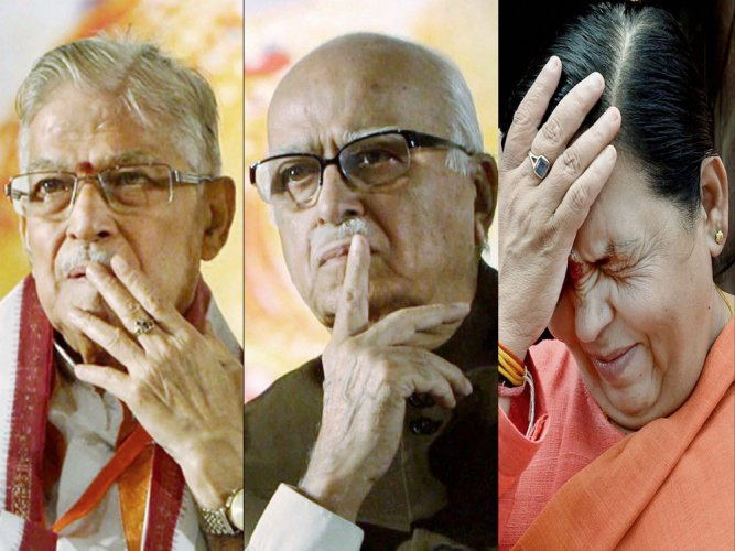 Senior BJP leaders, including L K Advani, Murli Manohar Joshi, Uma Bharti and Kalyan Singh, are accused persons.