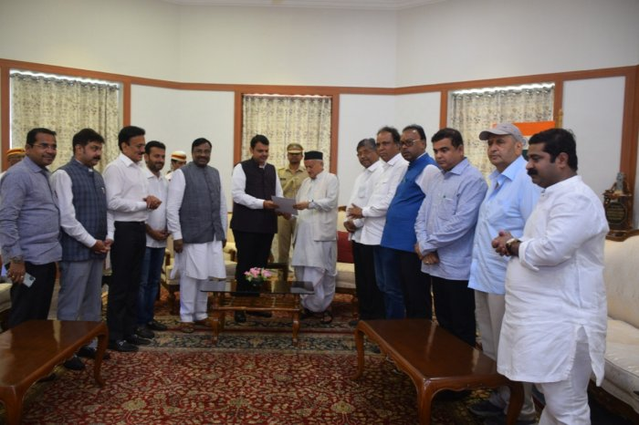 Fadnavis drove to Raj Bhavan in south Mumbai and submitted his resignation to Governor Bhagat Singh Koshyari.