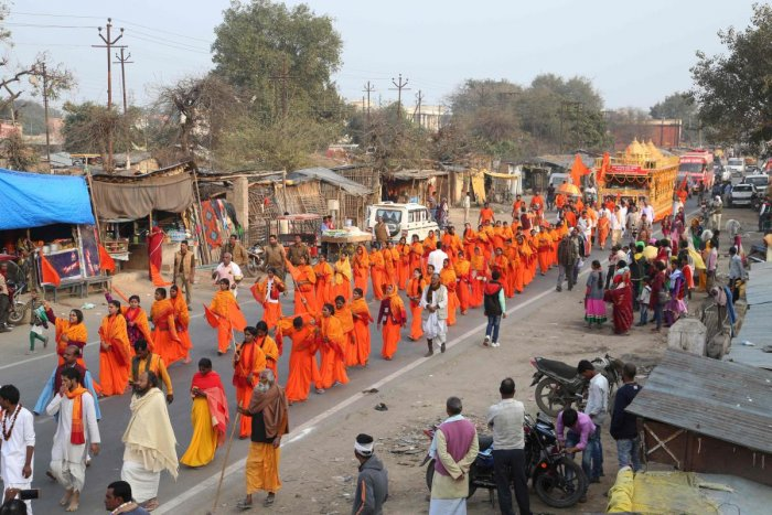 The seers in Ayodhya on Tuesday demanded a Parliamentary legislation to pave the way for its construction. AFP (file photo)