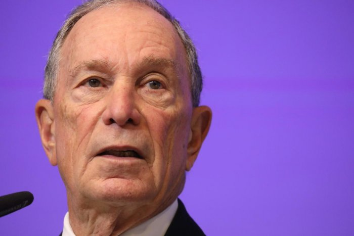 American businessman Michael Bloomberg. (Photo by Ludovic MARIN / AFP)