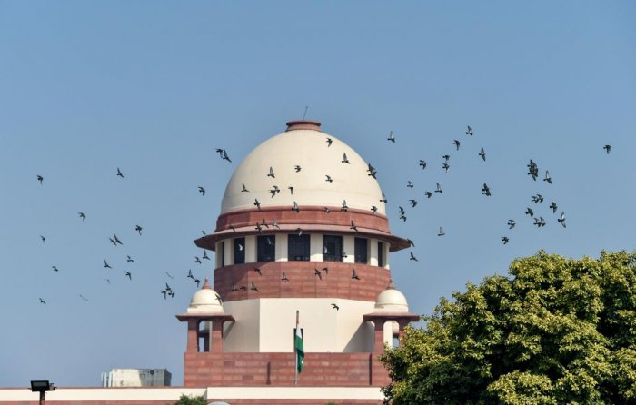 A view of the Supreme Court that pronounced its verdict on the Ayodhya case, in New Delhi, Saturday, Nov. 9, 2019. (PTI Photo)