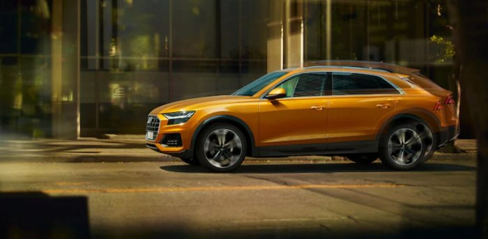 Through the Q8, Audi is seeking to offer a combination of the elegance of a four-door luxury coupé and the practical talents of a large SUV, according to the company. Photo/Audi.com