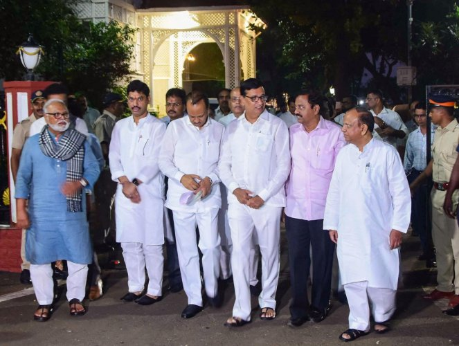 NCP and Congress leaders meet Maha Gov. (PTI Photo)